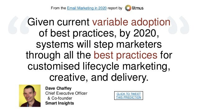 Email Marketing Best Practices 2020 Email Marketing in 2020: 20 Predictions from 20 Experts