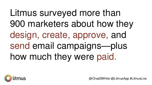 Litmus surveyed more than 900 marketers about how they design, create, approve, and send email campaigns—plus how much the...
