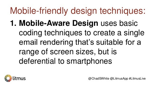 All of the growth in email mobile-friendliness was the result of growing use of mobile-aware and responsive-aware design. ...