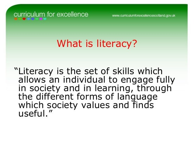 good numeracy and literacy skills