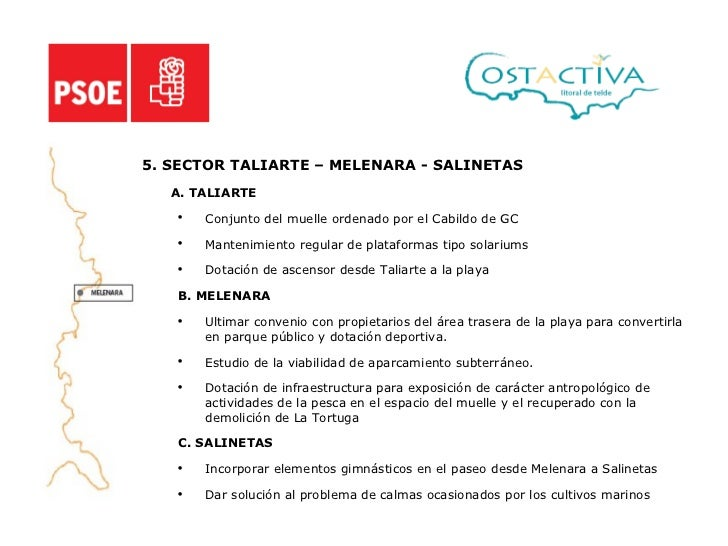 <ul><li>5. SECTOR TALIARTE – MELENARA - SALINETAS </li></ul><ul><li>A. TALIARTE </li></ul><ul><ul><li>Conjunto del muelle ...