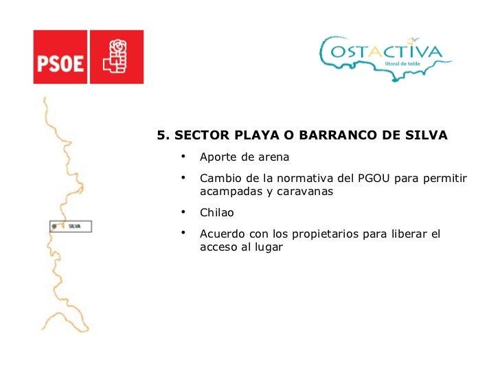 <ul><li>5. SECTOR PLAYA O BARRANCO DE SILVA </li></ul><ul><ul><li>Aporte de arena </li></ul></ul><ul><ul><li>Cambio de la ...