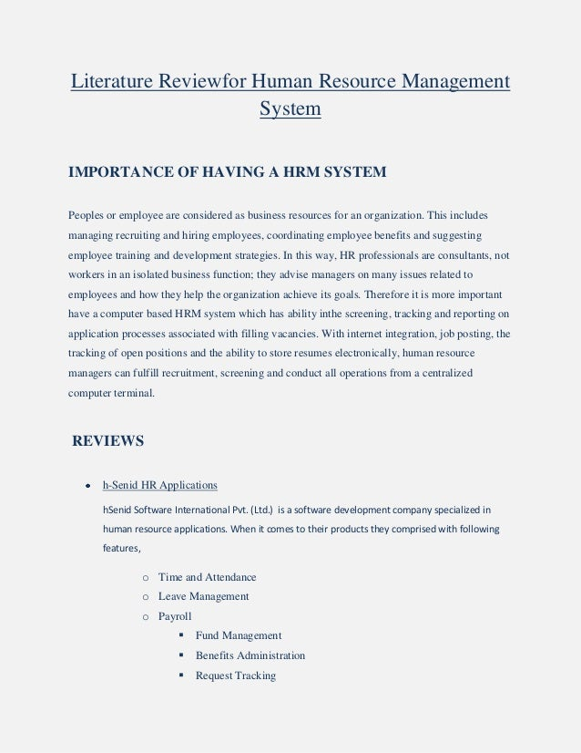 Literature review on payment system