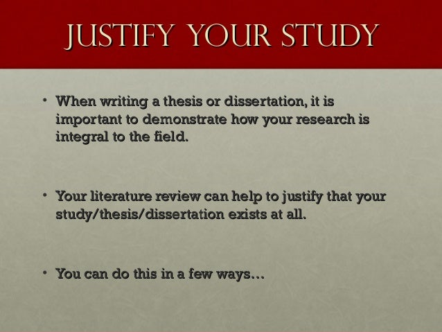 How to write a dissertation justification