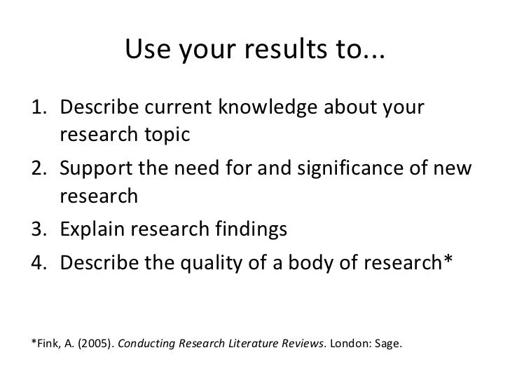 Conduct literature review research