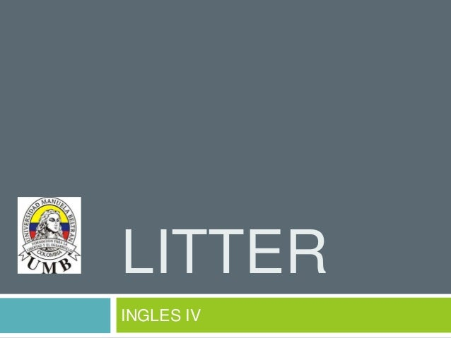 LITTER INGLES IV