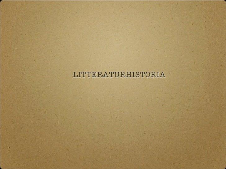 LITTERATURHISTORIA