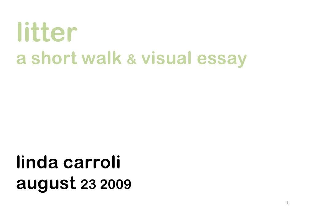 litter a short walk & visual essay     linda carroli august 23 2009                               1