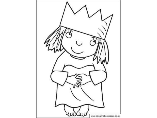 Little princess Colouring Pages and Kids Colouring Activities