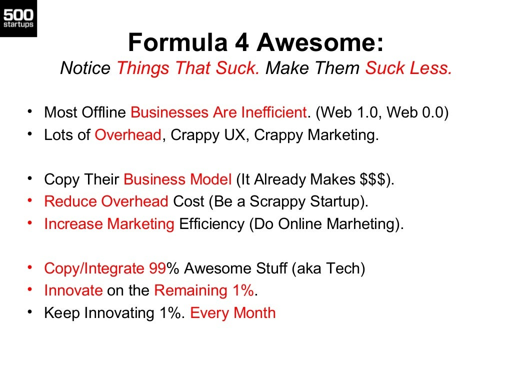 Formula 4 Awesome:Notice Things That