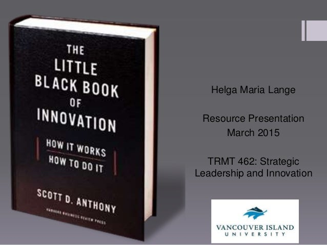 the little black of innovation book presentation