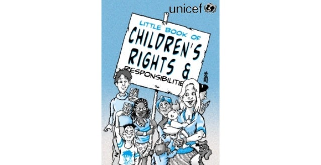 """This little book contains a sum− mary of the United Nations Convention on the Rights of the Child. """"A convention is an agr..."""