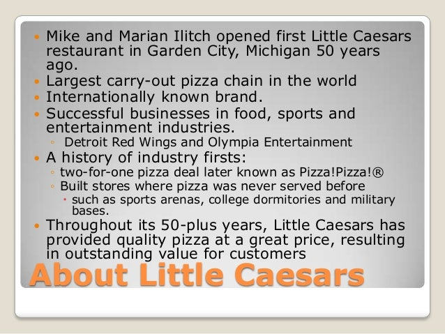 little caesars media plan After a clayton county woman picked up a pizza at a little caesars in riverdale, she returned home to find a surprise on social media — her picture an employee at the restaurant posted a.