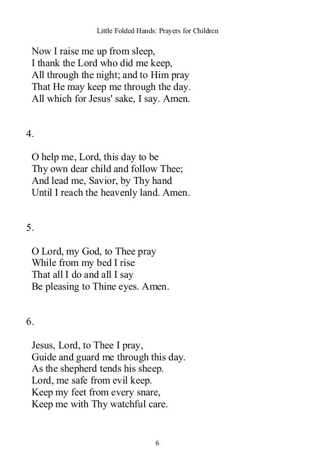 Little Folded Hands: Prayers for Children - Christian Classic Books