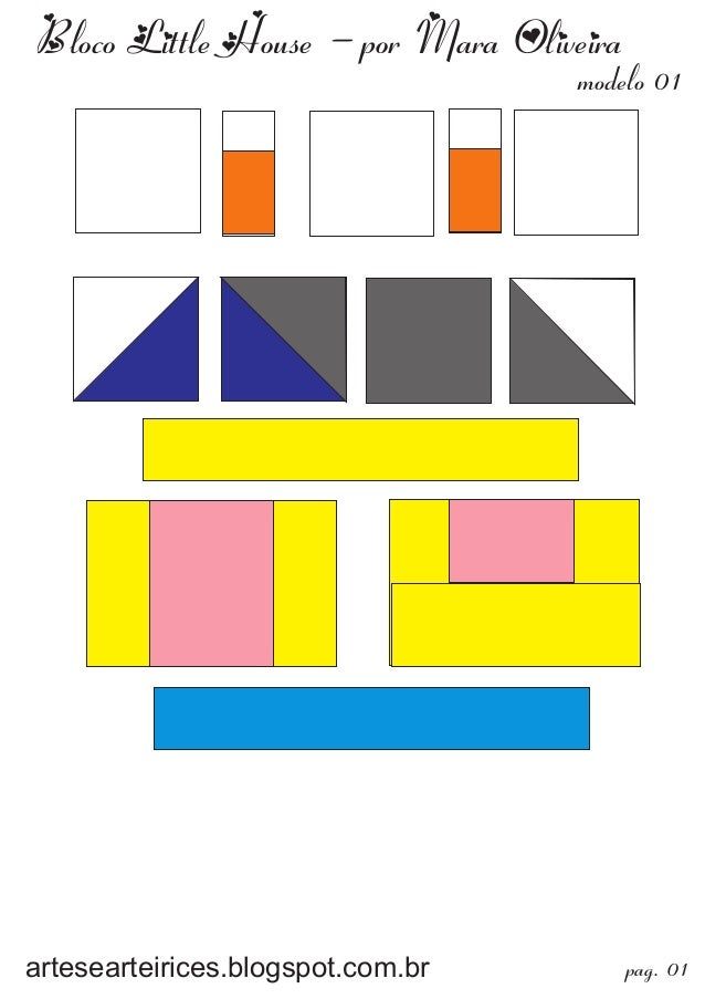 Bloco Little House - por Mara Oliveiraartesearteirices.blogspot.com.br pag. 01modelo 01