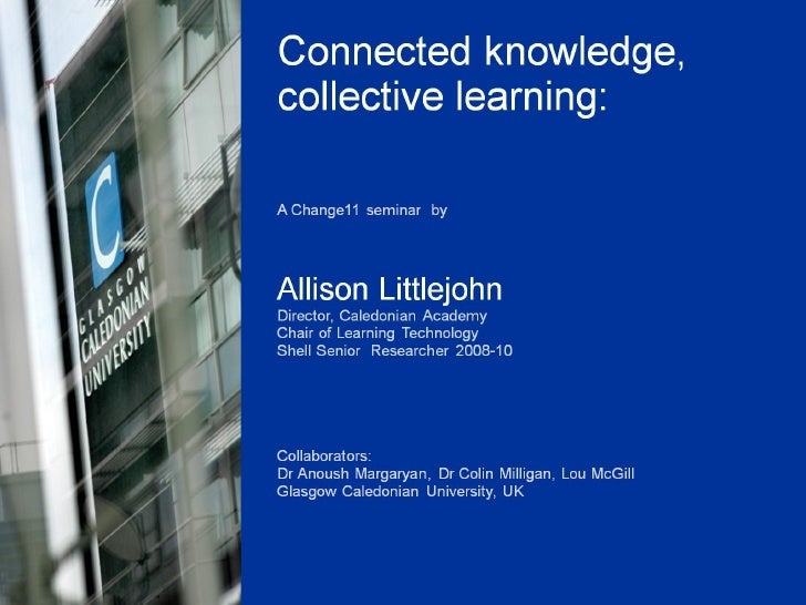 Connected Knowledge, collective learning