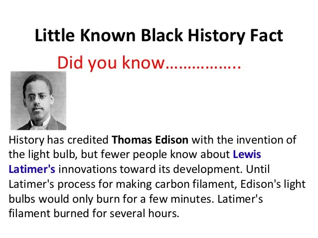 Little known black_history_facts (2):25. Little Known Black ...,Lighting