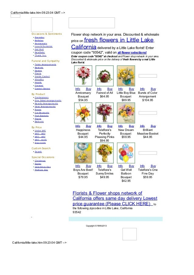 California/little-lake.htm 09:23:04 GMT -->                Occasions & Sentiments          Flower shop network in your are...