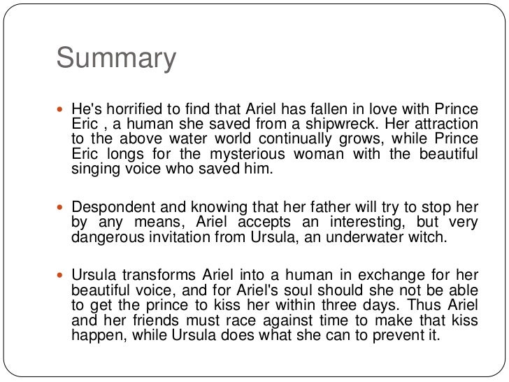 little mermaid disney summary