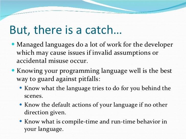C#/.NET Little Pitfalls Slide 3
