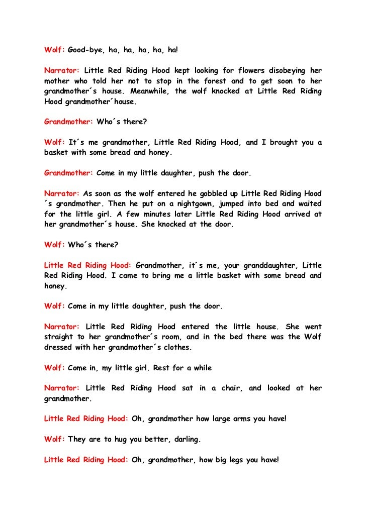 a look at the theater script of little red riding hood 7 the little red riding hood role playdoc share sign in the version of the browser you are using is no longer supported please upgrade to a supported browserdismiss file edit view tools help view only toggle screen reader.