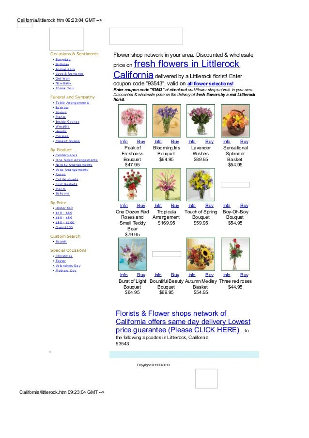 California/littlerock.htm 09:23:04 GMT -->                Occasions & Sentiments          Flower shop network in your area...