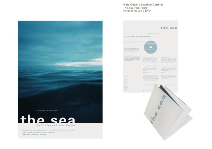 Gary Coyle & Stephen Gardner The Sea Film Poster Folds to house a DVD