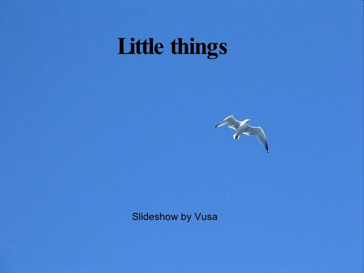 Little things Slideshow by Vusa