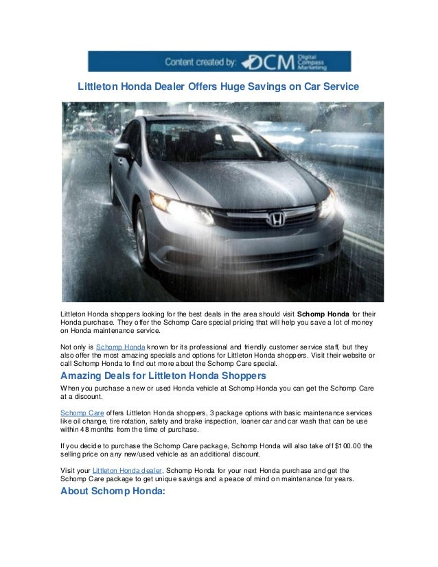 Littleton Honda Dealer Offers Huge Savings On Car ServiceLittleton Shoppers Looking For The Best Deals