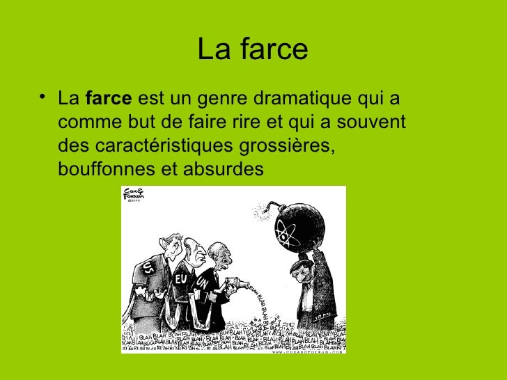 Litt rature for Definition de la farce