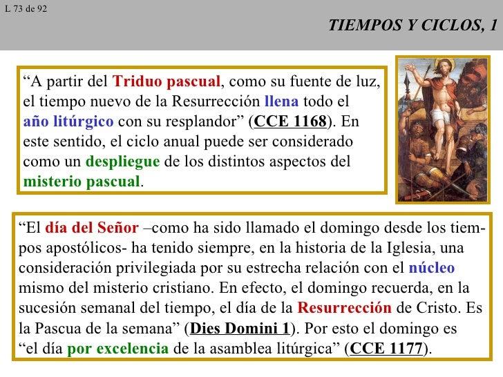 """TIEMPOS Y CICLOS, 1 """" A partir del  Triduo pascual , como su fuente de luz, el tiempo nuevo de la Resurrección  llena  tod..."""