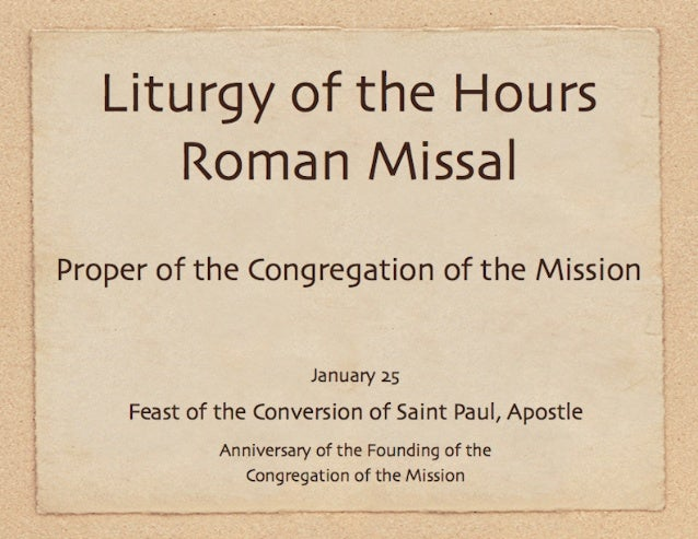 .. .-. .', .,. ... .'. _._ _____, _,—. _ _. v_ e. ...   Liturgy of the Hours  Proper of the Congregation of the Mission  J...