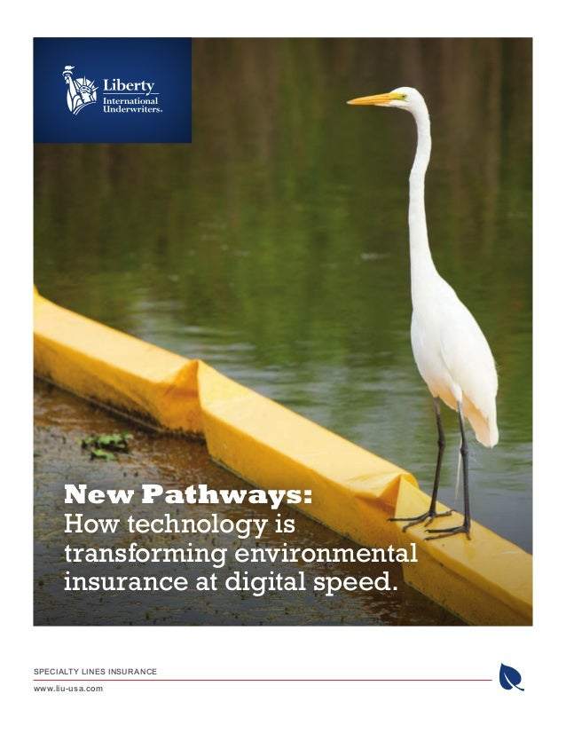 SPECIALTY LINES INSURANCE www.liu-usa.com New Pathways: How technology is transforming environmental insurance at digital ...