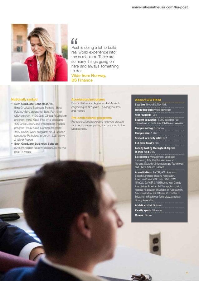 Long Island University post brochure