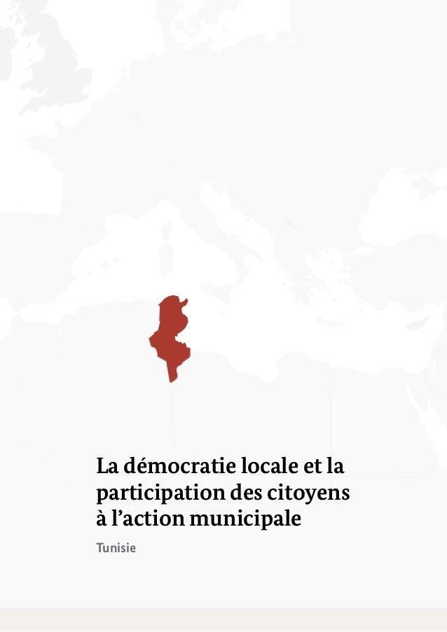 La démocratie locale et la participation des citoyens à l'action municipale Slide 3