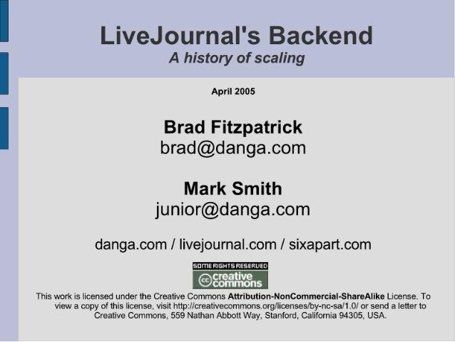 """. ' - [- ~a',  -I ~i, -~; r' """"var  — . a_ J 't, .  H}  41' 1Q 4""""' '— u  ' iv  A history of scaling  April 2005  Brad Fitzp..."""