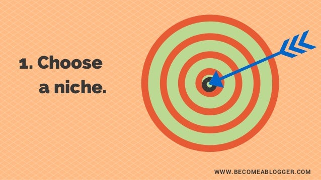 WWW.BECOMEABLOGGER.COM 1. Choose        a niche. c