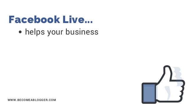 How to Stream to Facebook Live Like a Pro Slide 3