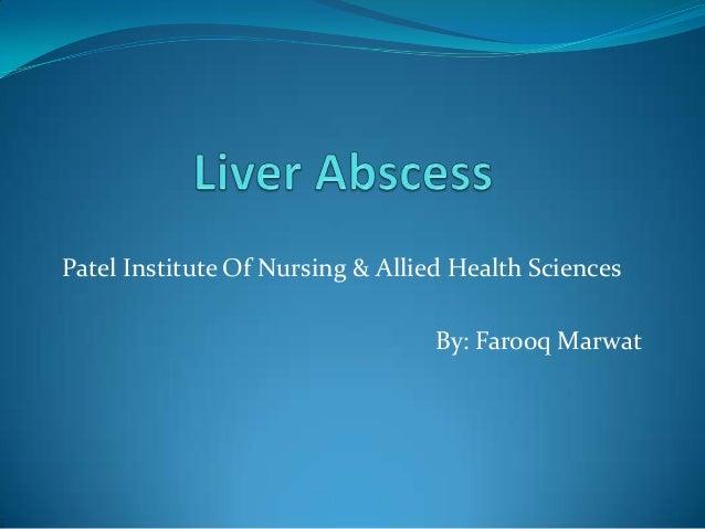 Patel Institute Of Nursing & Allied Health Sciences By: Farooq Marwat