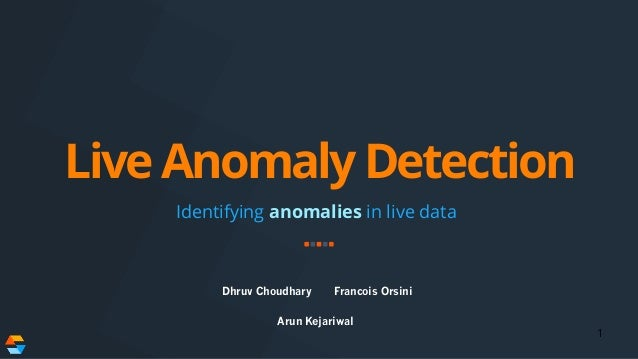 Live Anomaly Detection