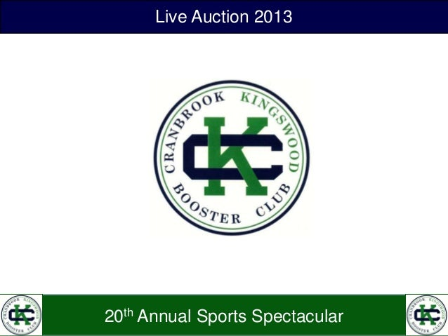 Nineteenth Annual Sports Spectacular Live Auction 2013 20th Annual Sports Spectacular