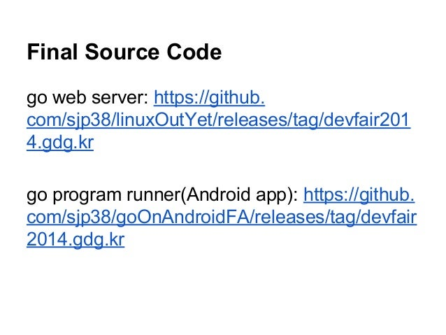 Live) build and run golang web server on android avi