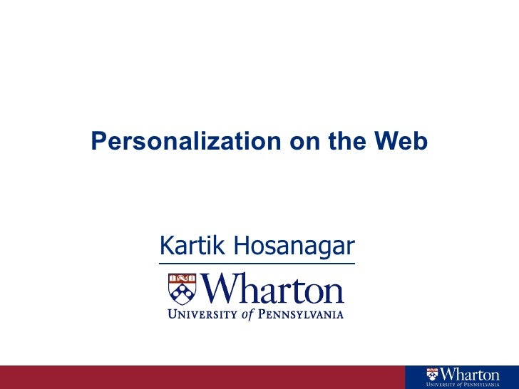 Personalization on the Web