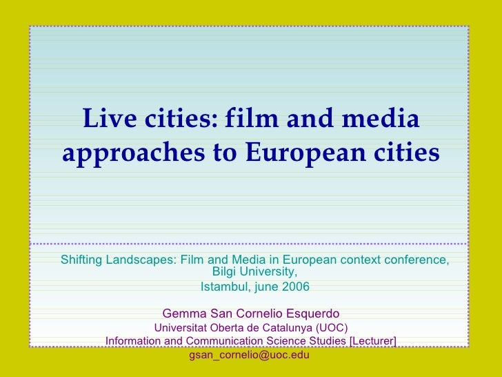 Gemma San Cornelio Esquerdo Universitat Oberta de Catalunya (UOC) Information and Communication Science Studies [Lecturer]...