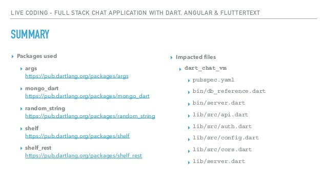 Live coding - Full stack chat application with Dart, Angular