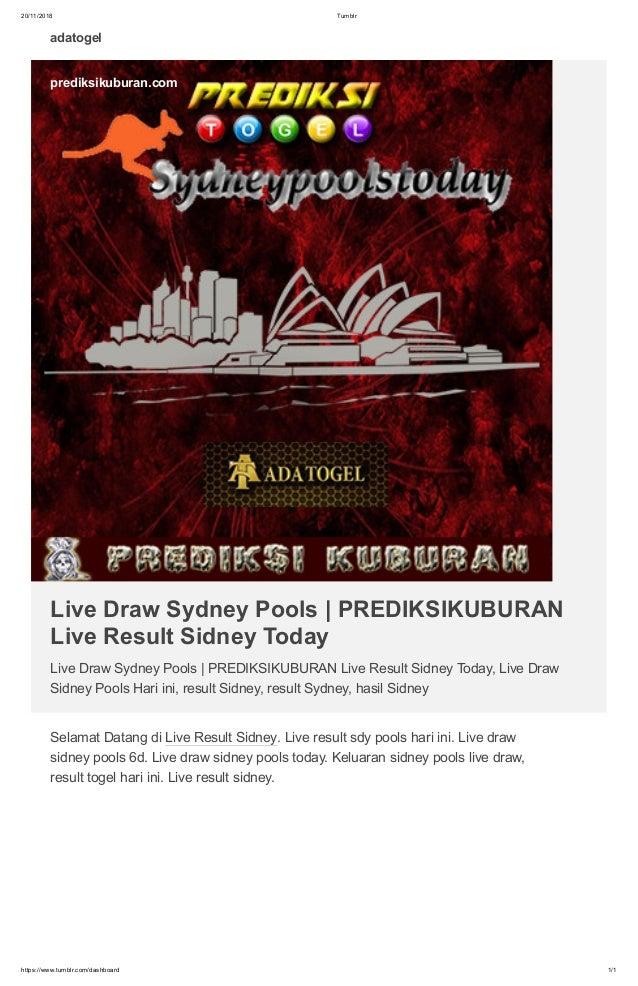 Live draw sydney pools
