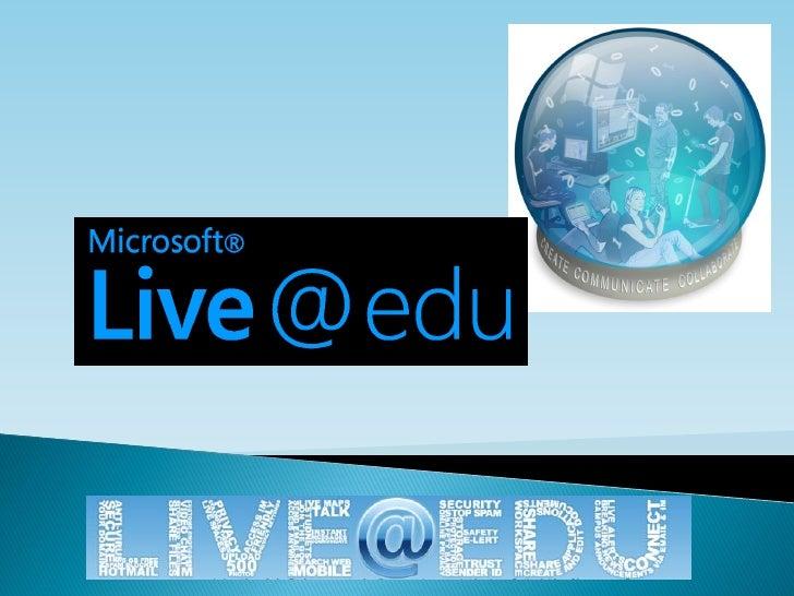    Wie zijn wij?    Wat kun je met Live@edu    Hoe gebruikt het Zernike Live@edu    Hoe implementeer je het gebruik  ...