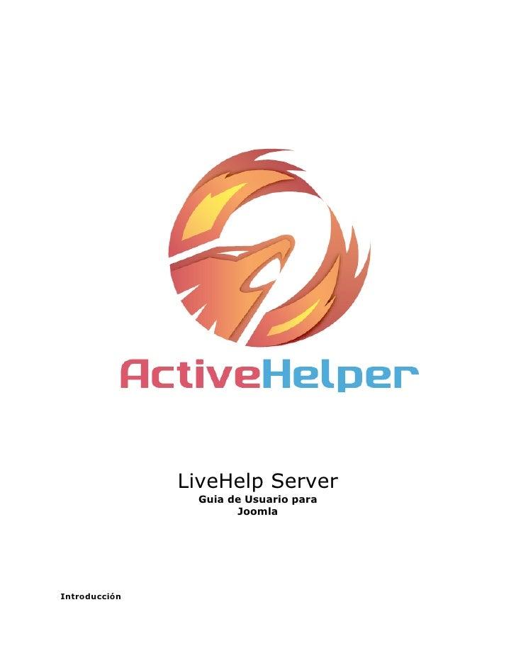 LiveHelp Server                Guia de Usuario para                      JoomlaIntroducción