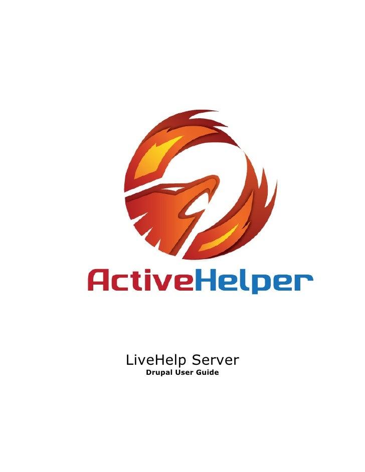 LiveHelp Server  Drupal User Guide