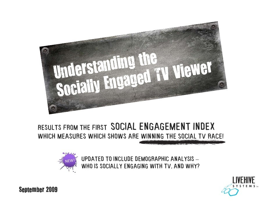 Results from the first Social Engagement Index       which measures which shows are winning the Social TV race!           ...